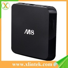 2015 best selling M8 smart iptv box m8n blue film full movies arabic tv channels live streamig