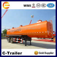 2 Axles 36000 litres fuel tanker semi trailer with double compartments