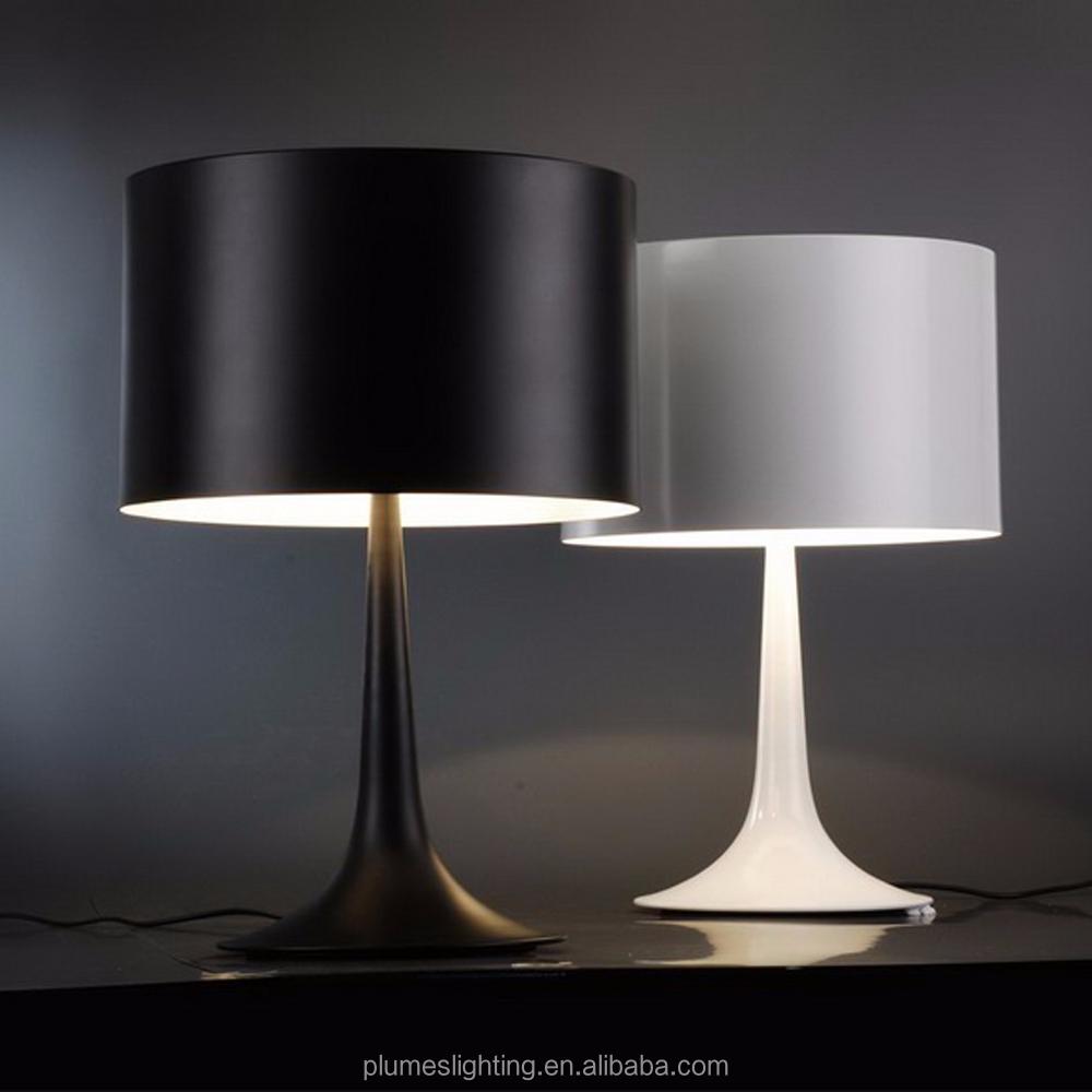 modern aluminium black table lamp for living room hotel lobby cafe bar
