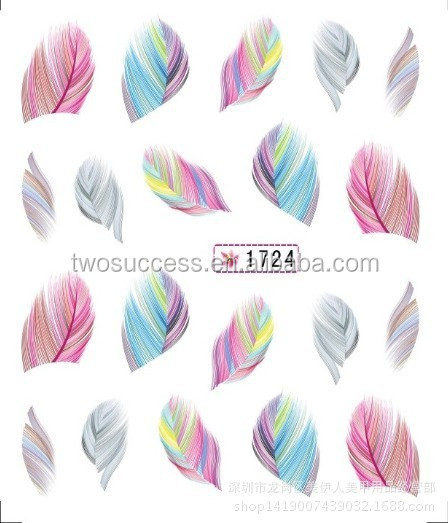 New design Long Water Transfer Nail Stickers for nail wraps decal