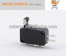 Kw-7-32 t85 interruptor de corto de rodillos de plástico palanca del interruptor micro 10a con ce ccc vde ul certificados