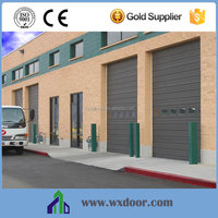 Galvanized steel vertical lifting industrial sectional doors