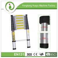 aluminum portable telescopic ladders(2m/2.6m/2.9m/3.2m/3.8m) EN131-6 certificate