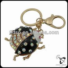 2014 precio de fábrica de metal llavero venta al por mayor de alta calidad de forma de los animales llavero escarabajo aa0274