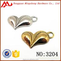 The Heart Shape Metal charms, Zinc Alloy Key Chain hanger