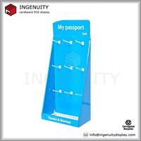 point of sale keychain cardboard hanging display counter