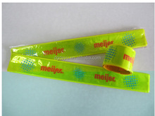 Promotional Reflective PVC Roll Up Armband Safety Slap Armband Cycling Jogging Walking