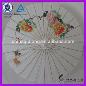 Atacado vintage decoração de flores de papelimpresso bambu guarda-sol