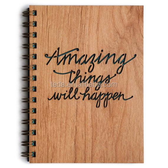 wood journal notebook
