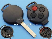 Auto inteligente 3 + 1 botones llave en blanco no logo cáscara de la cubierta