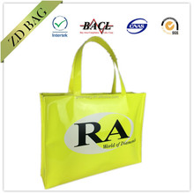 PVC Tote Bag, Luxury Shiny PVC Zipper Bag