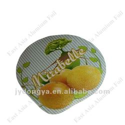 Aluminium Foil Top Cover For Cur Yoghurt Cups