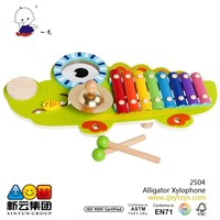 Musical Set Color 8 Scales Alligator Xylophone 2015 wooden toys