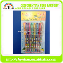 Custom Stationery Multi Colors Gel Pen