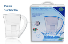 High ph, negative ORP, Hot sale alkaline water filter pitcher