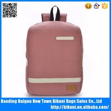 2015 Fashion Canvas Computer Backpack for High School Girls