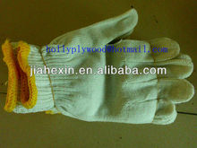 knitted cotton gloves used in working
