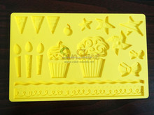 Silicone sugarcraft mould for cake decorating