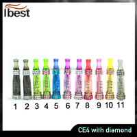 IBEST Wholesale High Quality Electronic cigarette Atomizer Double Kits EGO CE4 CE4 With Diamond