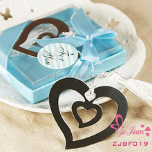 """Wedding Favors Event Gift Party Supplies Baby Shower Gifts """"Two Heart Together or Double Heart"""" Shaped Metal Bookmark Favors"""