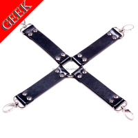 Geek hot G-S-009 black color cross buckle metal clasp produtos sex toys adults Bundle game safety leather PU Fixed hands & feet