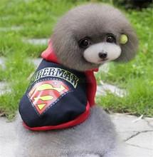Pet Cat Dog Superman Hoodie Sweater Puppy Winter Coat Wholesale Pet Shop