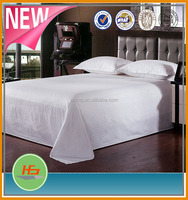 hot selling! white cotton 0.4cm satin stripe bedding sets for hotel