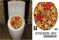 Lovely Sea Star Fashion Bathroom Decoration Peel and Sticker Eco-friendly Toilet Home Decor Wall Sticker