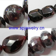natural red garnet round cut, round 4-16mm, many shape avaliable, 16-inch per strand, used as necklace beads and bracelet beads