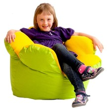 Nature Elements Green & Yellow Contrast Colored Flower Design Beanbag Sofa Chair For Children
