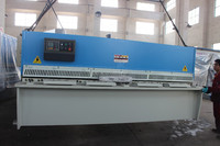Nanjing Estun E21 CNC System control 3 meter length sheet shearing machine, back gauge control steel shearing machine