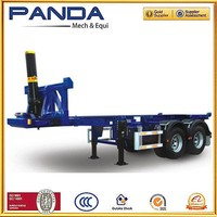 Panda 3 axle 40ft FUWA axle rear tipping semi trailer tipping semi-trailer sloper truck trailer with spring suspension