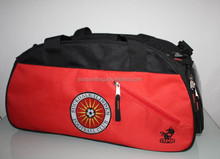 customer soccer sport bag wth compartment for shoes and player No. screen on side