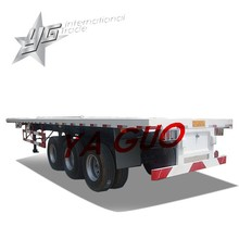 40 feet 3axle 12wheels 50ton flat bed container truck trailer