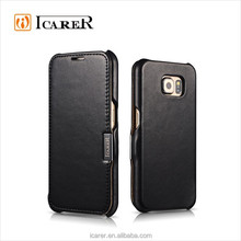 ICARER Luxury Leather Cover Case For Samsung Galaxy S6