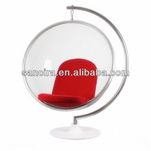 Modern furniture of acrylic hanging bubble chair for designers