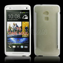 Rubber matte tpu case for htc one max T6