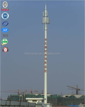 Self supporting gsm mobile cell phone painted steel landscape monopole TV masts