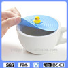 Silicone shaped cup lid,Duckling silicone coffee cup lid