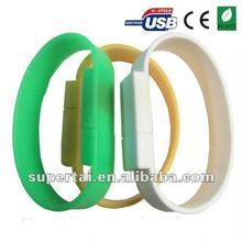 Custom silicone bracelet usb 2gb 4gb 8gb 16gb
