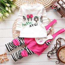 Pink Rabbit Fashion Lovely Cotton Girls Clothing Sets
