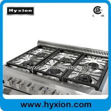 Commercial Equipment Restaurant 6 burner gas stove with grill and oven