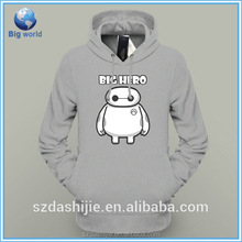 2015 OEM design your own100% cotton long hoodie & pullover hoodie without pockets