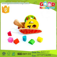2015 New Product Colorful Educational Toy Wooden Baby Toy Car Wholesale