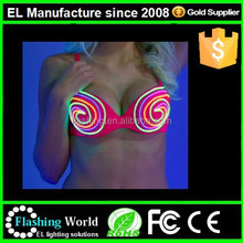cheap price el wire light up cosplay pictures of women without sexy bra