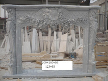 Antique outdoor fireplace silver insert marble Fireplace