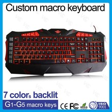 latest gaming backlit coloured computer keyboard with 32KB memory
