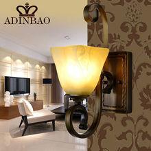 bronze wrought iron glass wall light 9003-1