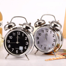 Custom retro metal desktop alarm clock