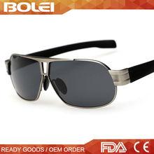 handsome custom metal pilot tac polarized sun glasses for man